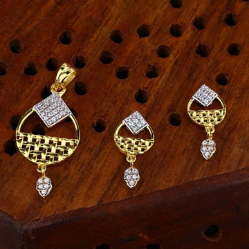 916 gold cz Pendant Set ps-0012