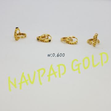 18Kt Gold CZ Bali Earring NG-ZK7407