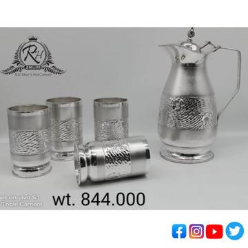 silver glass & jag antiq set RH-GF675