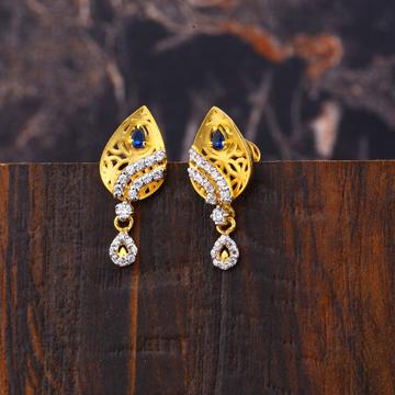 Ladies 916 Gold Fancy Earring Designer -LFE222