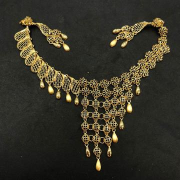 22K Gold Designer Necklace Set by