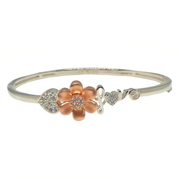 925 Sterling Silver Flower Shaped Love Bracelet MGA - BRS1811