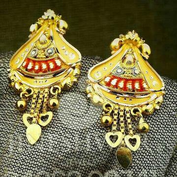 Fancy Ladies Plain Gold Kalkatti Butti -0010