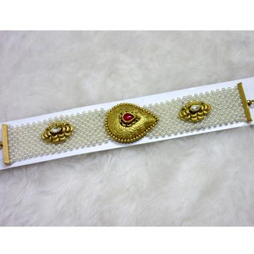 gold antique jadtar moti chadar designer bracelet