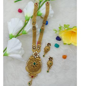 916 gold wedding wear long necklace set by Ranka Jewellers