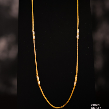 22K LADIES PLAIN CHAIN
