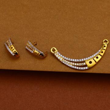 22kt Designer Gold Mangalsutra Pendant MP148