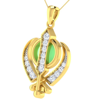 22KT yellow Gold Dignear Pendent For Women