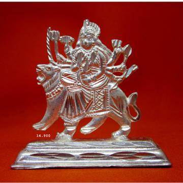 Silver Shree Ambe Maa Statue (Murti) MRT-104