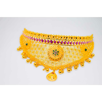 916 Gold Light Weight Chokar Set