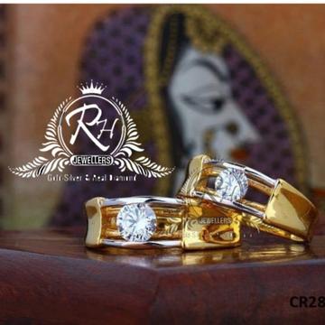 22 carat gold single dimond couple rings RH-CR809