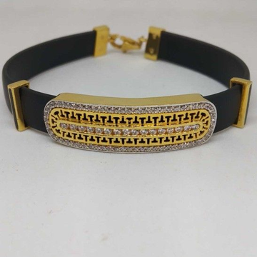 18 kt gold pure leather balt