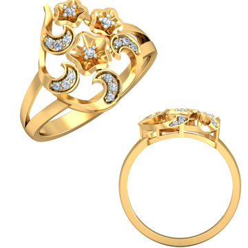 22KT Yellow Gold Camilla Lattice Ring For Women