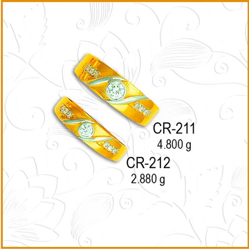 916 Gold Designer CZ Couple Ring CR-211