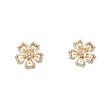 22K Gold CZ Diamond Tops Earrings MGA - BTG0318