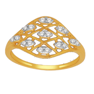 18 K gold real diamond ring