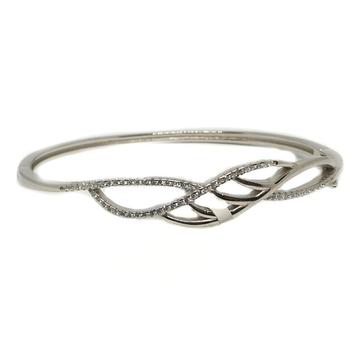 925 Sterling Silver Modern Style Bracelet MGA - BRS0256