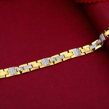 22KT Gold Splendid Diamond Bracelet For Men