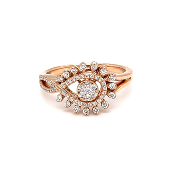Pressure setting with cap setting diamond ring in...