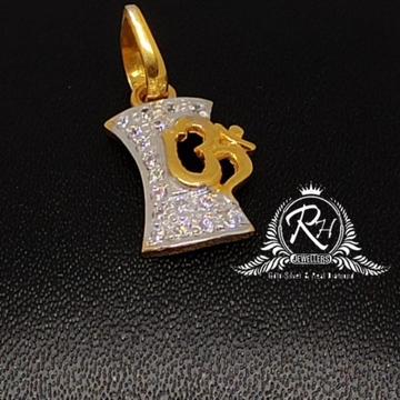 22 carat gold fancy om daimond pendal RH-PN995