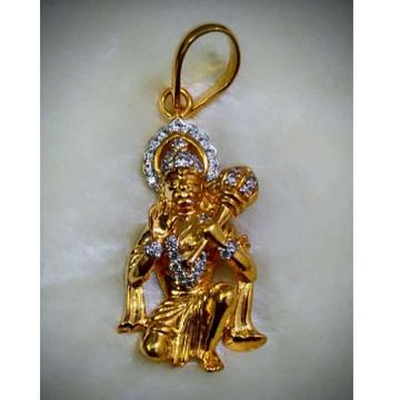 22KT Gold Religious Hanumanji Pendant