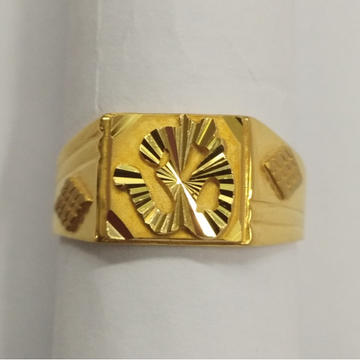 916 Gold Aum Design Ring For Men BJ-R003