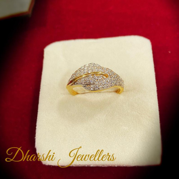 22K Gold Diamond designer Ring by