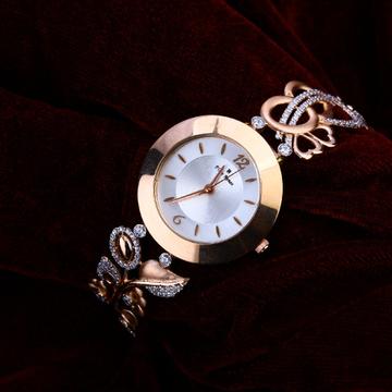 750 Cz Women's Stylish Rose Gold Watch RLW197