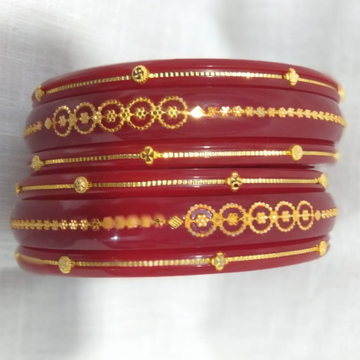 Gold Classic Plastic  Bangle  by