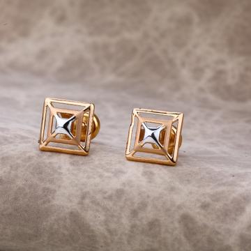 Ladies 18K Rose Gold Fancy Earring -RE02