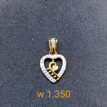 22 kt cz gold pendant by