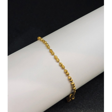 22KT, 916 Hallmark gold beaded bracelet for women JKB097