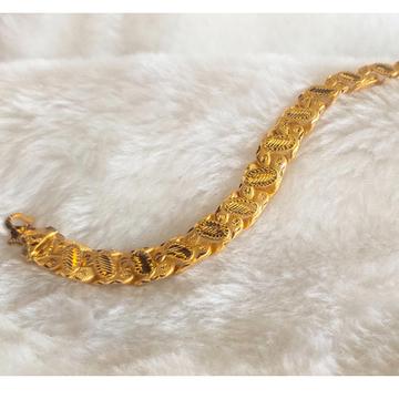916 gold gents bracelet by