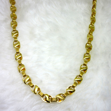 Gold Hollow Broad Chain