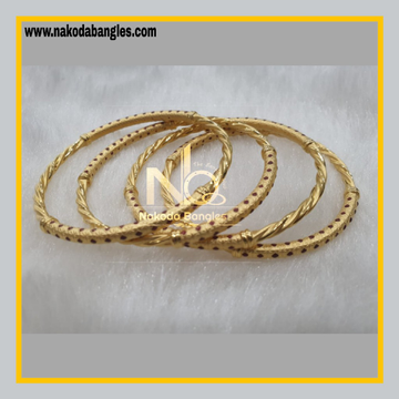 916 Gold Pipe Bangles NB - 879