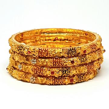 One gram Gold Forming kada bangles mga - bge0201