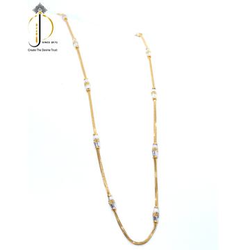 22KT / 916 Gold plain Rhodium chain for Ladies CHG0372