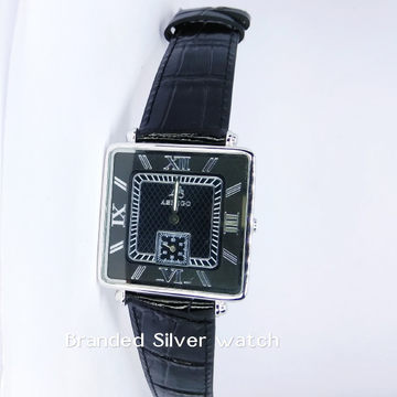 92.5 sterling silver exclusive leather watch ml-013