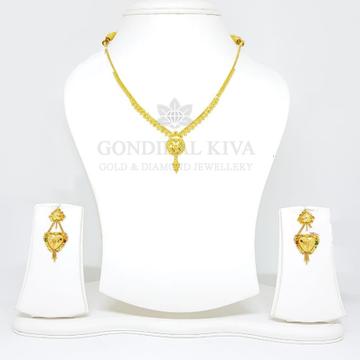 22kt gold necklace set gnh20 - gbl35