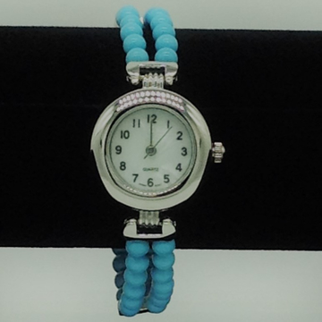 Natural turquoise round designer watch jbg0231