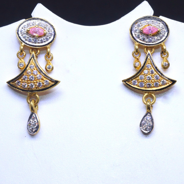 22KT / 916 gold fancy pink oval shape top earring for Ladies BTG0177