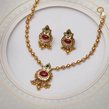 22KT/ 916 Gold antique special occasional Half Nec... by