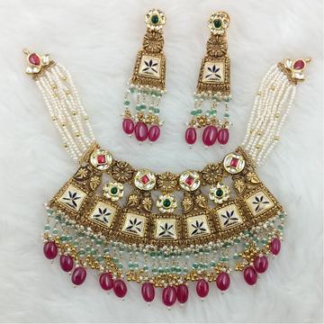 916 GOLD COLORFUL BIKANERI MEENA BRIDAL COLLECTION... by Ranka Jewellers