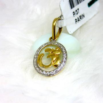 Oval Shape Om Logo Pendent