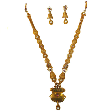 1 gram gold forming necklace set mga - gfn0022