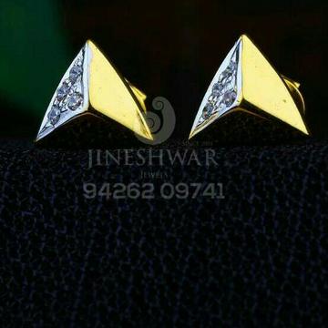 18kt Triangle Shape Plain Cz Gold Ladies Tops ATG -0209