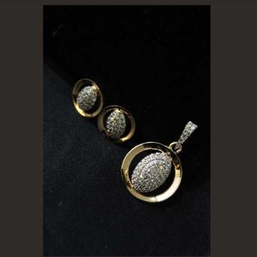 22 K Gold Fancy Pendant Set. nj-p01190