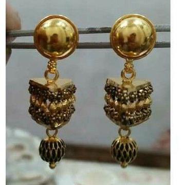 Gold Fancy Jadtar Earrings by