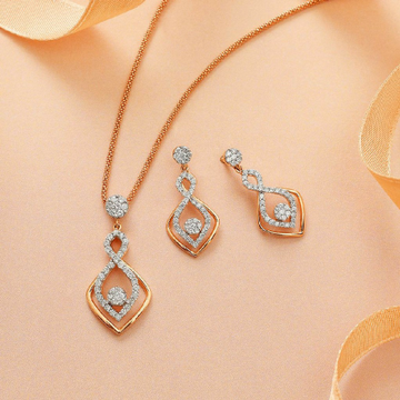 18KT Yellow gold fancy festival CZ Pendant set for... by
