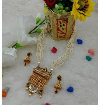 916 gold antique jesalmeri neckless set by Ranka Jewellers